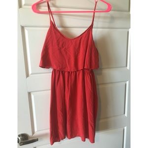 Coral cute dress H&M